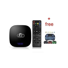 Quality  Smart TV Box 2GB RAM + 16GB ROM / 2.4G WiFi / 100Mbps / 4K+free wireless keyboard black normal