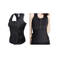 Sauna Vest Body Shaper Slimming Waist Trainer black m