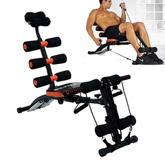 Multifunctional Generic Six Pack Bench black