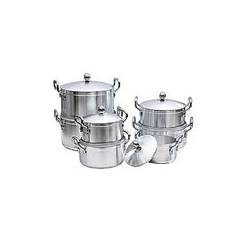 14-Piece Stainless Aluminium Cookware Pot Sufuria Set{heavy duty} stainless aluminium 7 pots 7 lids