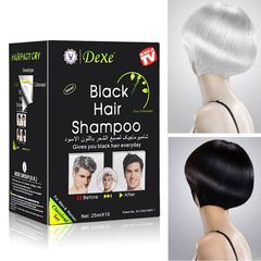 Hair Dye Shampoo *Black* (10 Packs ) black