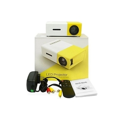 Portable  LED Mini Home Projector HD 1080P Images+ Free 32GB SD Card white & yellow