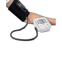 Digital Arm Blood Pressure Upper Arm Fully Automatic Monitor Heart Beat Meter White