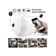 anorama Nanny Bulb Camera With WIFI +32GB Free Memory card. Digital white