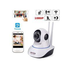 IP Camera 1080P HD Wireless Camera Indoor WiFi CCTV white