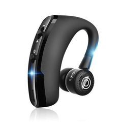 V9 Ear Wireless CSR Bluetooth Headset, Hands Free With Mic For And Android Black