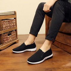 21/5000   Beijing cloth shoes work shoes mountaineering non-slip breathable casual men's shoes black The bottom of the black 39