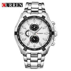 HOT CURREN Watches 8023 Men quartz TopBrand Analog Military male Watches Men Sports army Watch 1# normal