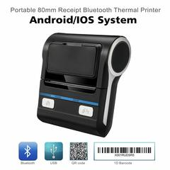 80mm Thermal Printer Bluetooth Android POS Receipt Bill Printer  Machine  for Small Computer black
