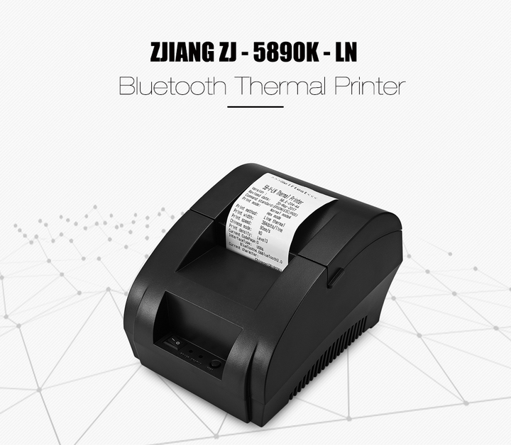 Lowest price promotion 58mm Wireless Thermal Printer Bluetooth Ticket Receipt  Printing Machine Black