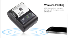 58MM Mini Bluetooth Thermal Printer Portable Wireless Receipt Machine for Windows Android IOS black