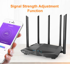 New Tenda AC11 Gigabit Dual-Band AC1200 Wireless Router Wifi Repeater 5*6dBi High Gain Antennas
