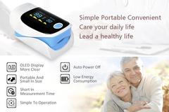 flash sale Digital finger oximeter, OLED pulse oximeter display  ,oximeter a finger Blue