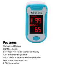 Lowest price promotion Digital Finger Pulse Oximeter Portable LCD  Heartrate Monitor blue