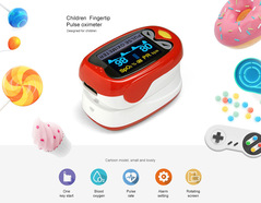 The New Oximeter Neonatal Infant Finger Pulse Oximeter 1-12 Years Old Kids Baby Pulse Oximeter red