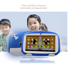 2019 new hot sale 7 Inch children's tablet 8GB Kids Learning Tablets Pc WiFi Bluetooth machine Blue