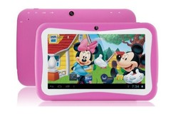 Lowest price 7 inch Kids Tablet PC 512MB+8GB computer camera Bluetooth WiFi Tablets learning machine pink