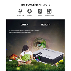 UC40 LED Projector Full HD 1080P 1200 lumens Home Theater Beamer Cheap Proyector White 1080P