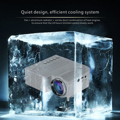 Low price UC28A Mini Portable LED Projector 1080P Multimedia Home Cinema Theater white 1080P