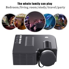 Low price UC28A Mini Portable LED Projector 1080P Multimedia Home Cinema Theater black 1080P
