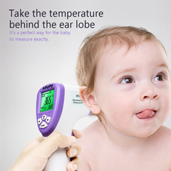 Latest limited time promotion Thermometer Baby Infrared Digital LCD Baby Care purple normal
