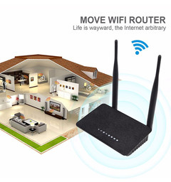 300M wireless router black 300m