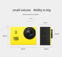 2019 Insurance Gift Camera Sports Outdoor DV Waterproof yellow one size