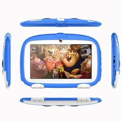 Q7T new 7 inch children's tablet quad-core cartoon tablet computer early childhood blue