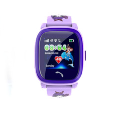 DF25 child positioning watch Deep waterproof touch screen watch pink one size