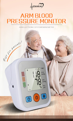 Electronic blood pressure monitor household arm tied type accurate measurement electronic voice white