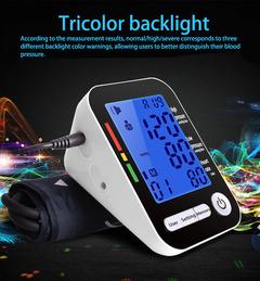 Arm cross-border electronic sphygmomanometer Home electronic blood pressure monitor white black