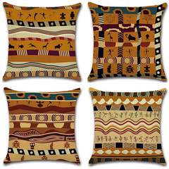 New African ethnic style pillowcase home printing ancient pillow hug pillowcase 01 45*45c'm