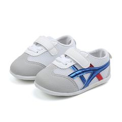 Non-slip breathable baby shoes sports shoes soft bottom shoes baby toddler shoes blue 17#(inner length 12cm)