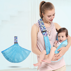 2-15 Months Baby Carriers Comfortable Breathable Simple straps  one size blue one size