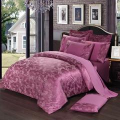 4Pcs Bedding Set(1 Duvet cover+1 Bed sheet+2 Pillow covers) Wedding Bedding Sets Cotton e-color as picture 1.5m-bed