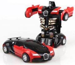 Deformation Alloy Toy Car Back To The Deformation Of the Diamond Model Car robot 's red one size
