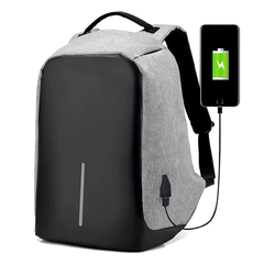 Third Generation USB Charge Anti Theft Backpack 15inch Laptop Backpacks Fashion Bags Bagpack gray 26.0 cm * 43.0 cm * 11.0 cm