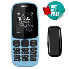 Nokia 105 featured phones 2G Dual SIM FM Mobile phones nokia105 Cheap cell phone blue