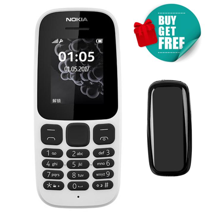 Nokia 105 featured phones 2G Dual SIM FM Mobile phones nokia105 Cheap cell phone white