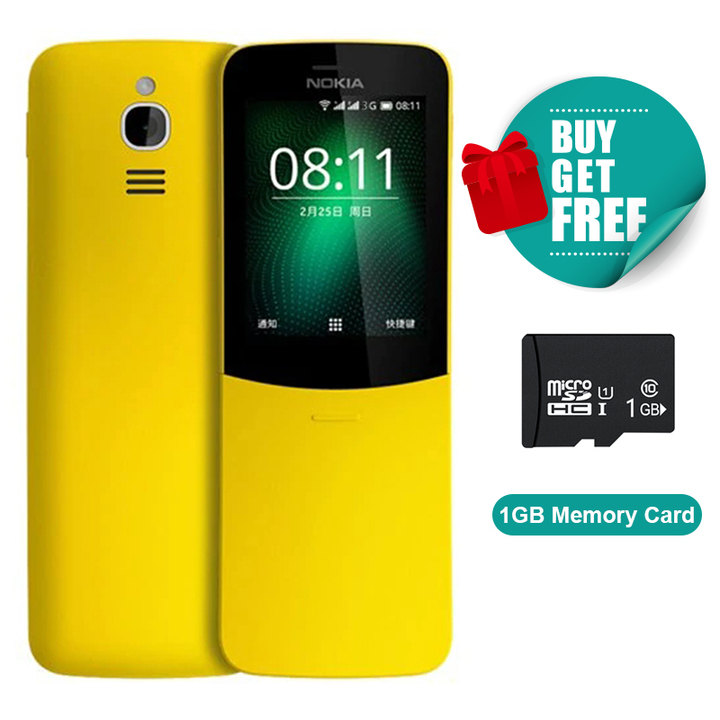 Nokia 8110 3G Feature Phone Real Camera Dual SIM Cheap Bluetooth Nokia8110 cell phone yellow