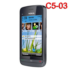 Original Nokia C5-03 mobile phone WIFI GPS 5MP 3G Bluetooth Unlocked cellphone black