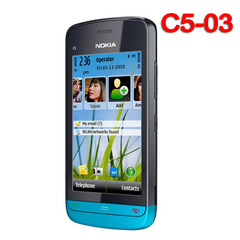 Original Nokia C5-03 mobile phone WIFI GPS 5MP 3G Bluetooth Unlocked cellphone blue