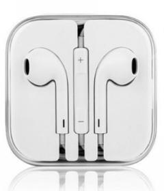 In-Ear Headphone Earphones Earpods with Volume White