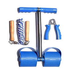 Tummy trimmer + Skipping rope + hand grips Blue Irregular
