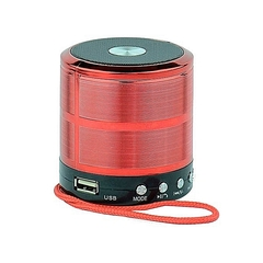 Wster WS887 Mini Bluetooth Speakers With MP3 and FM Radio Red