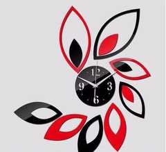 Wall clock Black and red normal