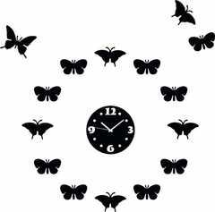 Wall clock black normal