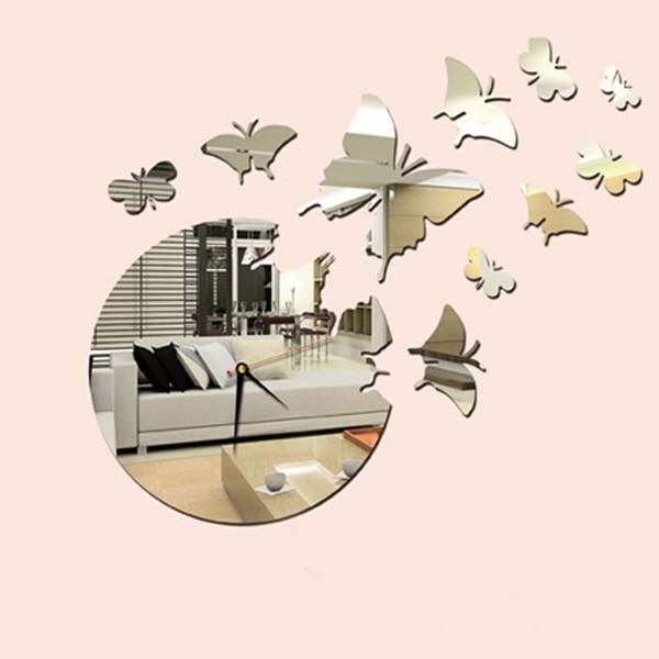 Unique Modern Decorative Mirror Wall Clock - 3D 13G005