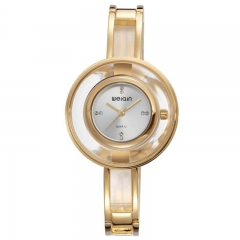 Skone Ladies Slim Runway Wrist Watch W4823-1 gold 30