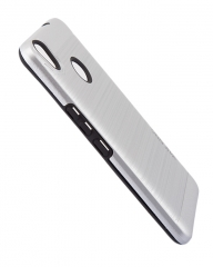 Tecno CX Air Back Cover- Armor case Silver silver 5.5